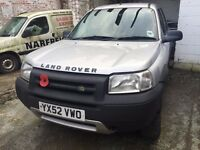 2002 LAND ROVER FREELANDER TD4 S SILVER PROJECT SOLD FOR SPARES OR REPAIR GOOD ENGINE