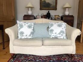 Sofa with Mahogany Legs Delivery Available
