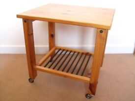IKEA DALSEV Pine Table withe Wheels