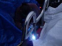 Welder steel fabrication work
