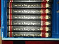 complete set of hard back colliers encyclopedias.(excellent condition.