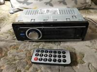 Car radio with remote usb and memory card a slot