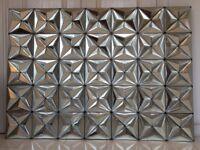 Geometric Mirrored wall feature 104cm x 144cm.