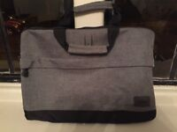 Grey canvas laptop bag