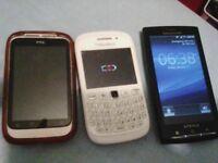 3 working phones