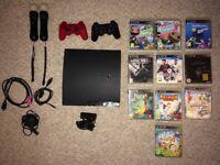 PS3 Bundle - 300 GB - Excellent condition - 2 controls, 2 wand controls, 9 games, camera, cables