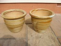 Pair of china pots (never used)