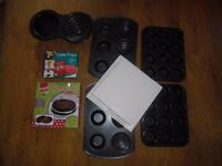 A Selection of Cake Tins - Giant Cupcake, Large Cupcake, Muffin tins, Giant Cookie Mould & Cakepops
