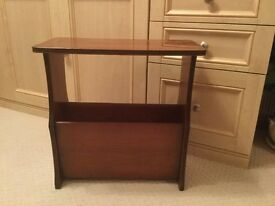 Yew Side Table / Magazine Rack
