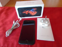 Apple iPhone 6s 16gb - Space Grey - Sim Free - Boxed - Case - Near perfect condition