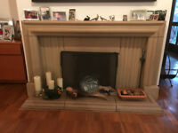 Stylish stone fire surround