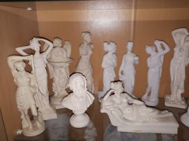 collection of alabaster ornaments