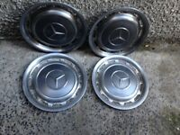 Mercedes 15 inch vintage metallic grey wheel trims