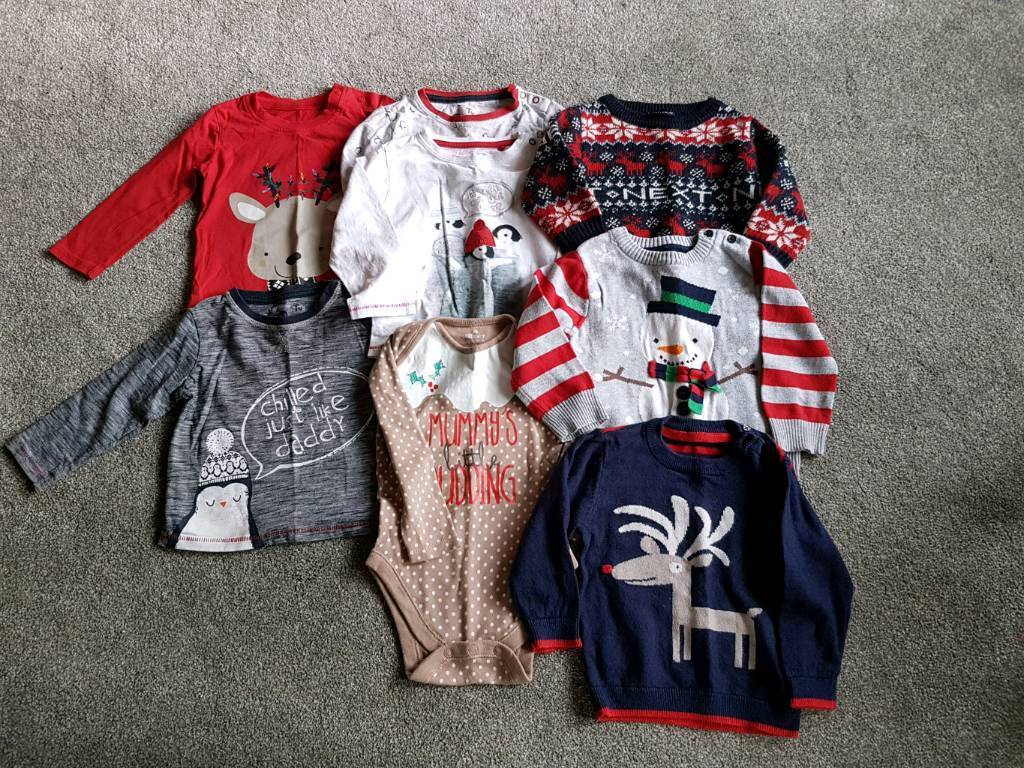 9-12 month Christmas bundle. All in good condition.