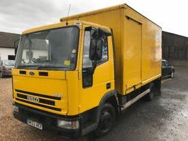 Iveco Ford Cargo 75E17 7.5te Tail Lift Box Truck 382km