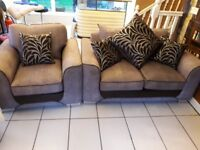 Two seater sofa and armchair