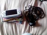 White PSP with Sims Bundle