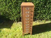 9 Drawer Filing Cabinet Raised On Legs. Similar To Bisley