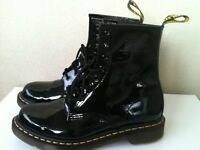 black patent doc martens. size 4. immaculate condition