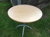 Round table wood without chairs good condition £10