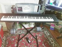 Yamaha NP30 Portable Digital Piano with stand and sustain pedal