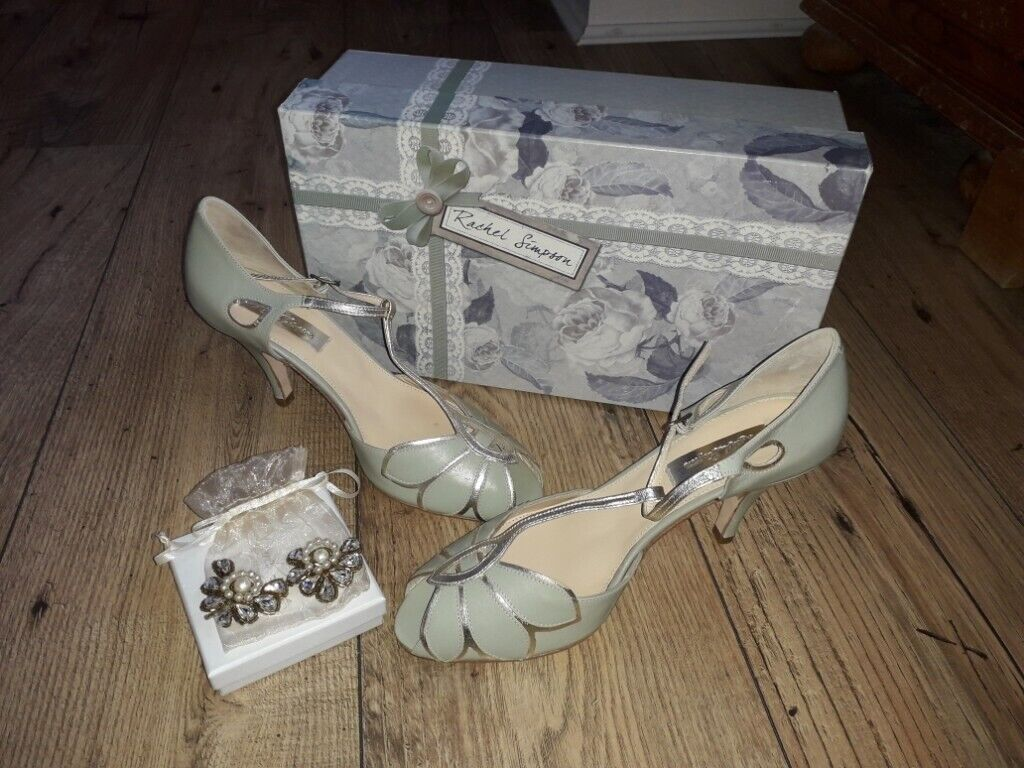 557f9067a437 RACHEL SIMPSON bridal shoes and Art Deco clips - BRAND NEW ...