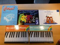 Five piano music books for beginners