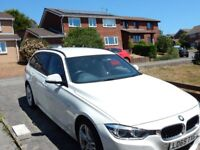 2015 BMW 3 series 335d automatic estate in white, X drive, M sport - low mileage (22K)