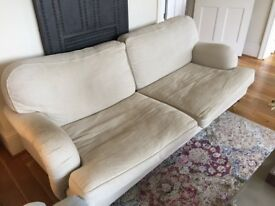 Beige Howard style 3-seat sofa for free