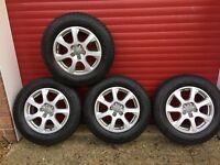 "Audi 17"" Alloys + winter tyres, set of 4, Dunlop SP Winter Sport 3D Tyres, 235/165/R17 6mm tread."