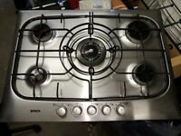 BOSCH 5 ring gas hob in good condition