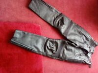 BUFFALO LADIES MOTORCYCLE LEATHER TROUSERS SIZE 14