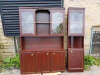 Display Cabinet - 2 Glass Doors, 3 Wooden Doors & 4 Shelves + a Corner Display Cabinet