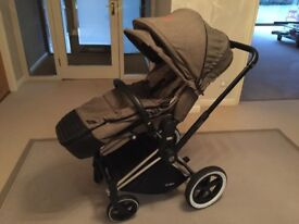 Cybex Priam all Terrain Pram and Pushchair with Comfort Lux Seat and Carrycot