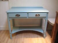 Beautiful Vintage Desk, Dressing / Console / Hall Table - Professionally finished in Farrow & Ball