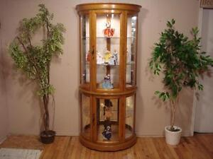 Gorgeous Bow-Front Curio Cabinet
