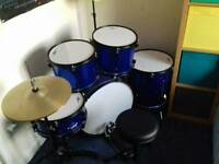 Cool blue drum kit