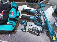 Makita tools and bag