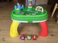 In the night garden activity table with extra ninky nonk and tombliboo figures
