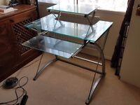 Glass Computer Desk - Excellent Condition