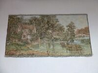 """TAPESTRY John Constable's HAYWAIN New Belgian woven tapestry approx. 39""""x20"""""""