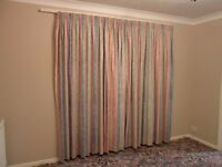 2 pairs of Montgomery lined curtains with pelmets