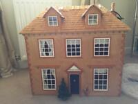 Stunning 1/12 scale Victorian wooden doll house
