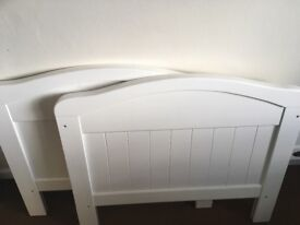 Cot bed/toddler bed in white
