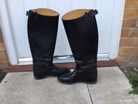 Leather horse show boots