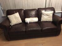 💥💥Italian leather large super soft chocolate 3 seater sofa - bargain💥💥