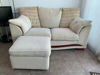 2 seater sofas plus footstool