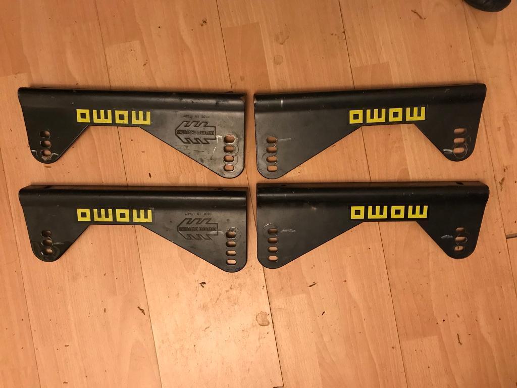 4x (2 pairs) MOMO seat mounting brackets