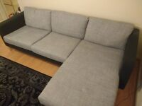 IKEA Karlstad 2 Seat Sofa, Chaise Longue and Armchair with 2 Full Sets of Covers