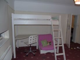 Lovely ASPACE children's high bed with desk and single futon